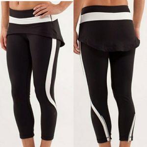 Lululemon Steadfast Crop Skirt Leggings size 8
